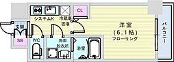 S-RESIDENCE南堀江[15階]の間取り