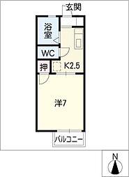ジュネスSHIBATA[2階]の間取り