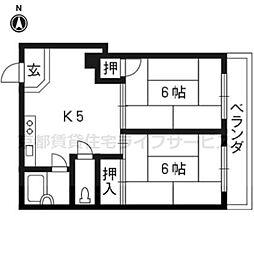 天神川ビル[5D号室]の間取り