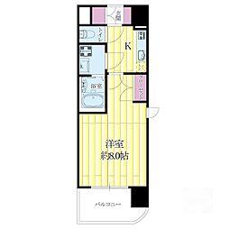 WGB江坂[6階]の間取り