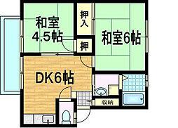 サンシティ平井A棟[1階]の間取り