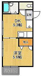 ガーデンハウス宝塚B[102号室]の間取り