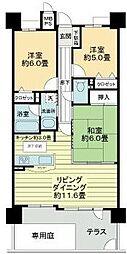 愛知県名古屋市港区中川本町5丁目の賃貸マンションの間取り