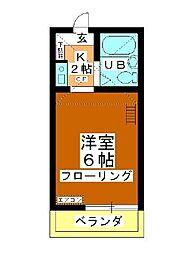 小川コーポ[202号室]の間取り