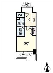 Atrio鶴舞[7階]の間取り