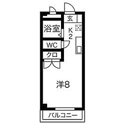 クリーン高蔵寺[1E号室]の間取り
