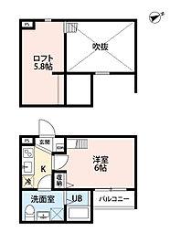 casa fiore(カーサフィオレ)[2階]の間取り