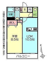 グレード上野[301号室]の間取り