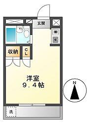シャルム大堀[2階]の間取り