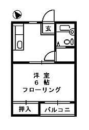 コーポフレンド[2階]の間取り
