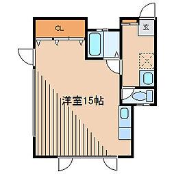 神奈川県相模原市南区大野台6丁目の賃貸アパートの間取り