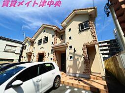 三重県津市西丸之内の賃貸アパートの外観