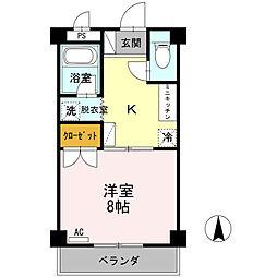 大安寺マンション[3階]の間取り