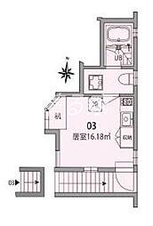 東新宿TERRACE E棟[2階]の間取り