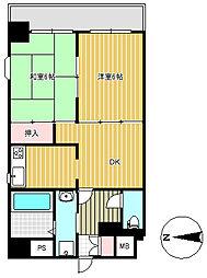 上杉八番館[10階]の間取り