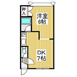 エポックワールド[3階]の間取り
