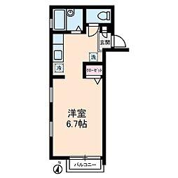 ちきゅうハウス[2階]の間取り