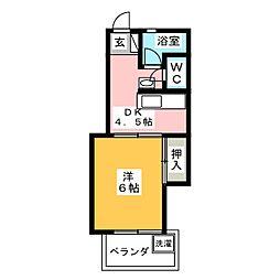 メモリープラザ大橋Ⅱ[3階]の間取り