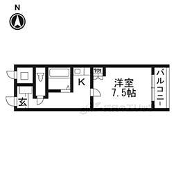 JR東海道・山陽本線 摂津富田駅 4kmの賃貸マンション 1階1Kの間取り