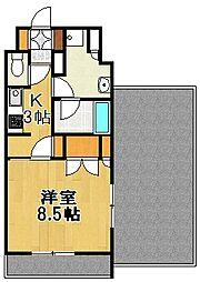 東京都世田谷区経堂5丁目の賃貸マンションの間取り