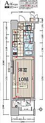 デュオン新大阪レジデンス[10階]の間取り