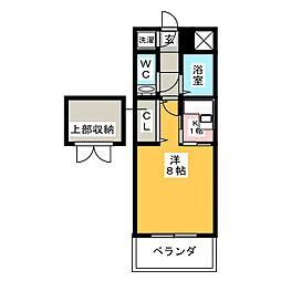 エステート・モア・高宮セゾン[6階]の間取り