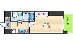 Luxe天王寺[508号室]の間取り