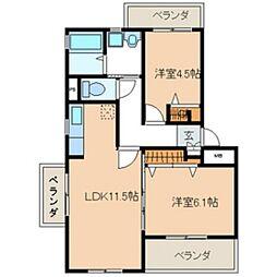 福岡県福岡市西区富士見3丁目の賃貸マンションの間取り