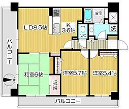 戸田公園第5ローヤルコーポ[902号室]の間取り