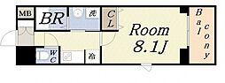 大阪府大阪市港区田中2丁目の賃貸マンションの間取り