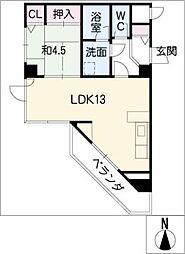 香林館[3階]の間取り