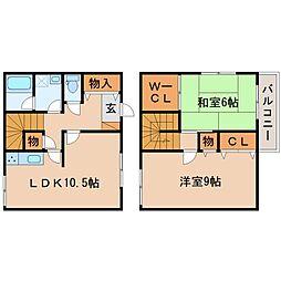 [テラスハウス] 滋賀県栗東市小野 の賃貸【/】の間取り