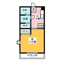 ファーヴル横割[1階]の間取り