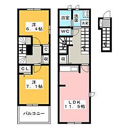 レインボー ローズI[2階]の間取り
