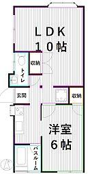 東京メトロ丸ノ内線 南阿佐ヶ谷駅 徒歩12分の賃貸一戸建て 1LDKの間取り