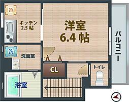 東京都中野区南台2丁目の賃貸マンションの間取り