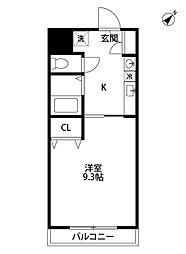 アビタシオン・エスプリ[202号室]の間取り
