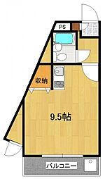 煉瓦館66[101号室号室]の間取り