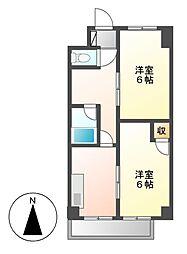 マンションコオノ[3階]の間取り