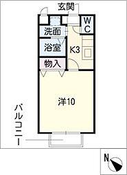 アムール西岡崎[2階]の間取り