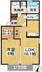 茨城県龍ケ崎市久保台3丁目の賃貸アパートの間取り