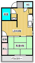LEXANI新松戸[3階]の間取り