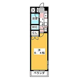 アビタシオン船原[3階]の間取り