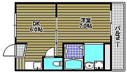 ヴィラナリー富田林3号棟[2階]の間取り