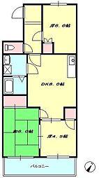 ロイヤルハイツ II[2階]の間取り