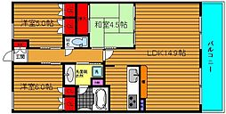 KWレジデンス日本橋[402号室]の間取り