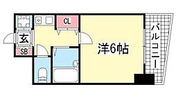 ランドマークシティ神戸西元町[301号室]の間取り