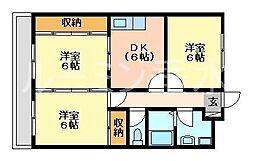 YKRシャンボール[2階]の間取り
