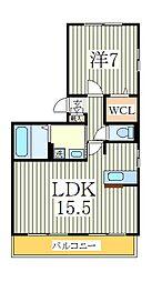 レスペート柏の葉[3階]の間取り