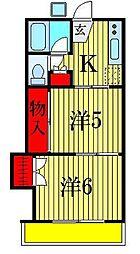 マリーハイツ[2階]の間取り